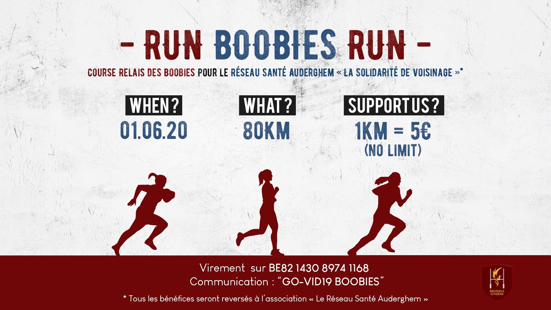 L'UAE soutient les Boobies, l'équipe féminine du Citizens Rugby Club d'Auderghem, pour Run Boobies Run, course relais solidaire.
