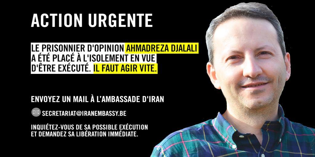 Empêchons l'exécution du Dr. Ahmadreza Djalali
