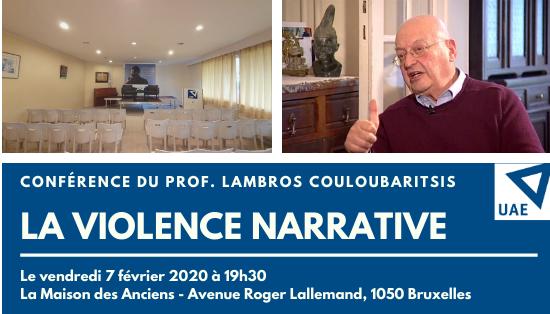 "Conférence de Lambros Couloubaritsis :""La violence narrative"""