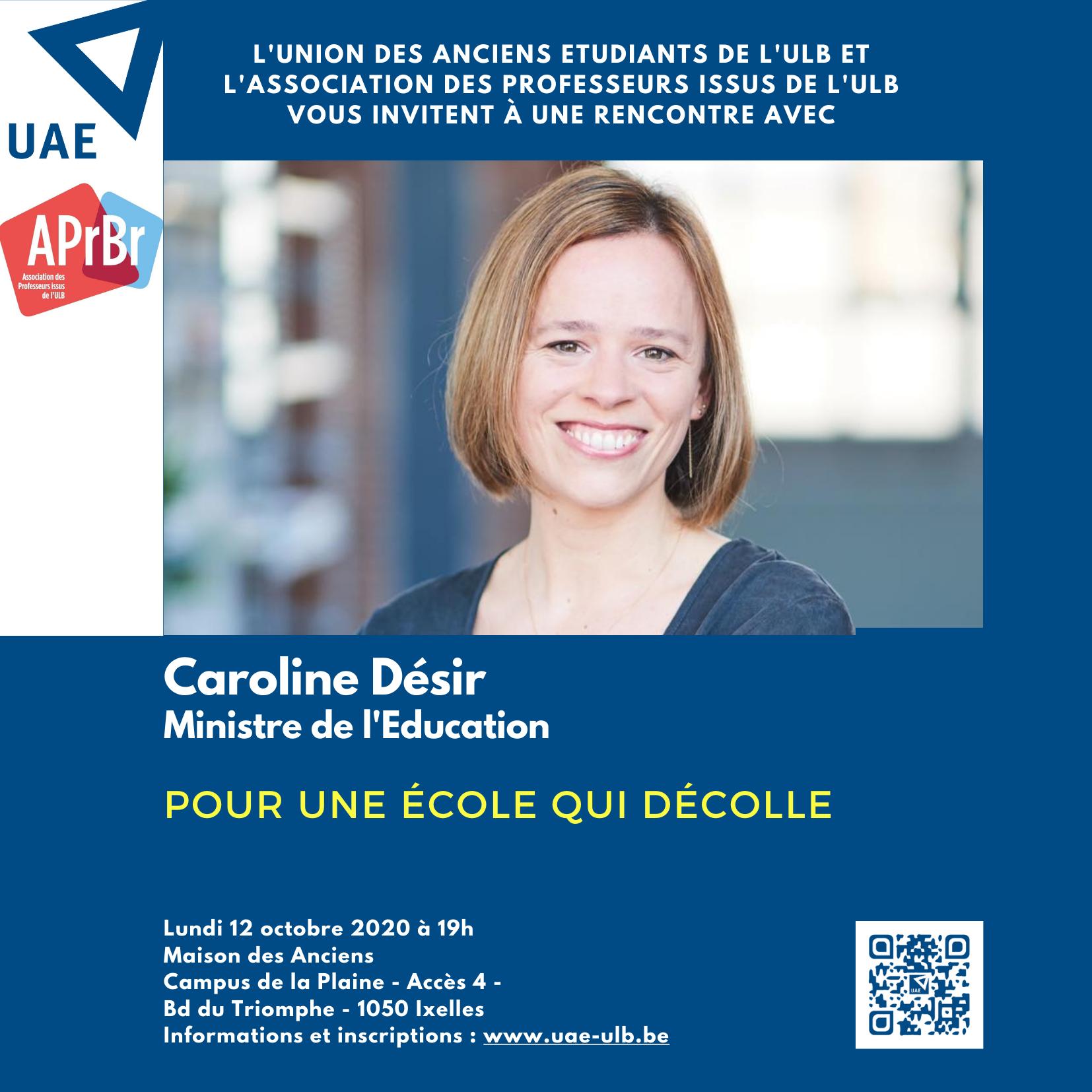 """Conférence de Caroline Désir """"Pour une école qui décolle"""""""