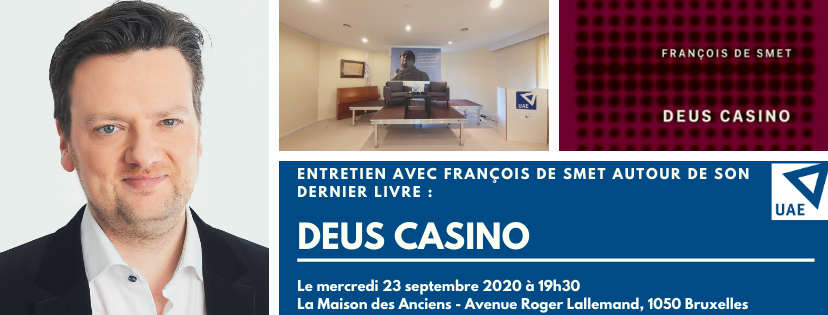 """REPORTÉE – Conférence du philosophe et Député fédéral  François De Smet sur son dernier livre """"Deus Casino"""""""